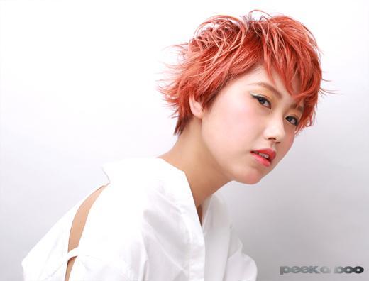 ピンクオレンジカラー PEEK-A-BOO 上野彰紘