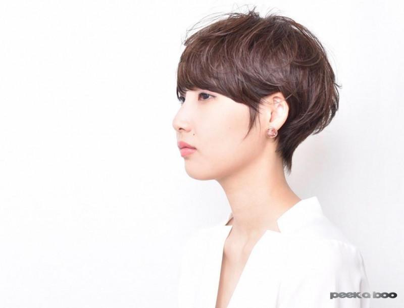 ショコラブラウンカラーサイド PEEK-A-BOO 日平駿
